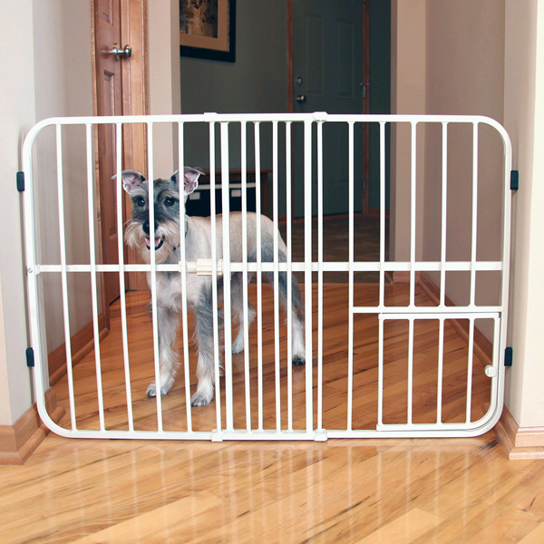 Dog Gate With Small Pet Door
