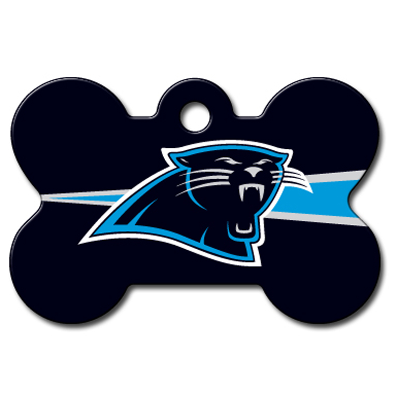 Carolina Panthers Engravable Pet I.D. Tag - Bone