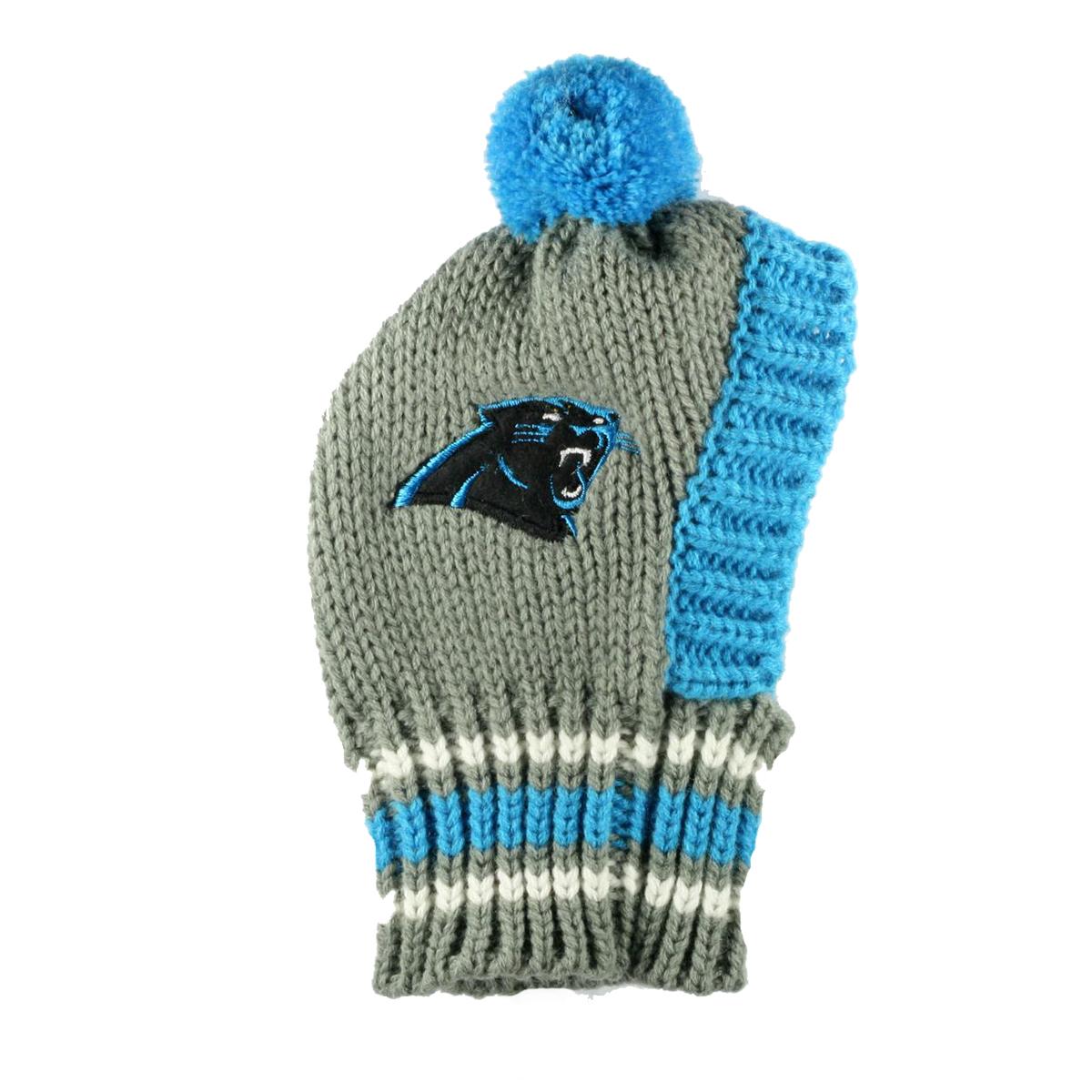 Dog Hat Knitting Pattern : Carolina Panthers Knit Dog Hat BaxterBoo