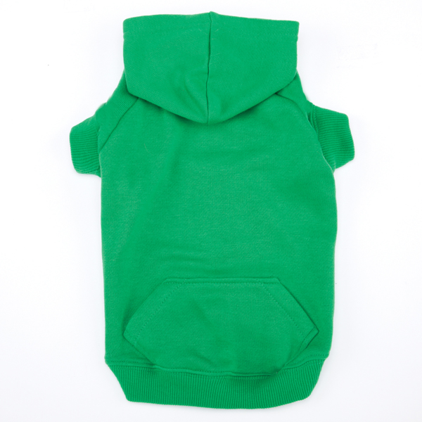 Casual Canine Basic Dog Hoodie - Green