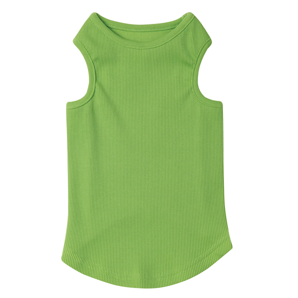 Casual Canine Basic Ribbed Dog Tank Top - Parrot Green