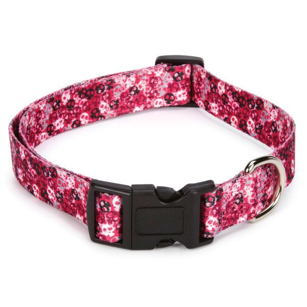 Bone Heads Dog Collar - Pink