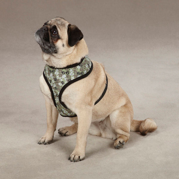 Bone Heads Dog Harness - Green