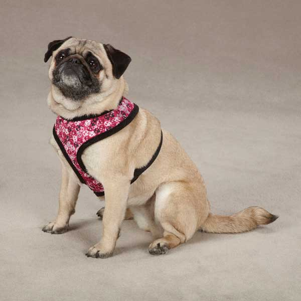 Bone Heads Dog Harness - Pink