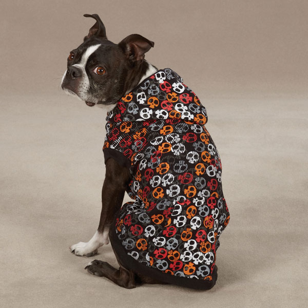 Bone Heads Dog Waffle Hoodie - Orange