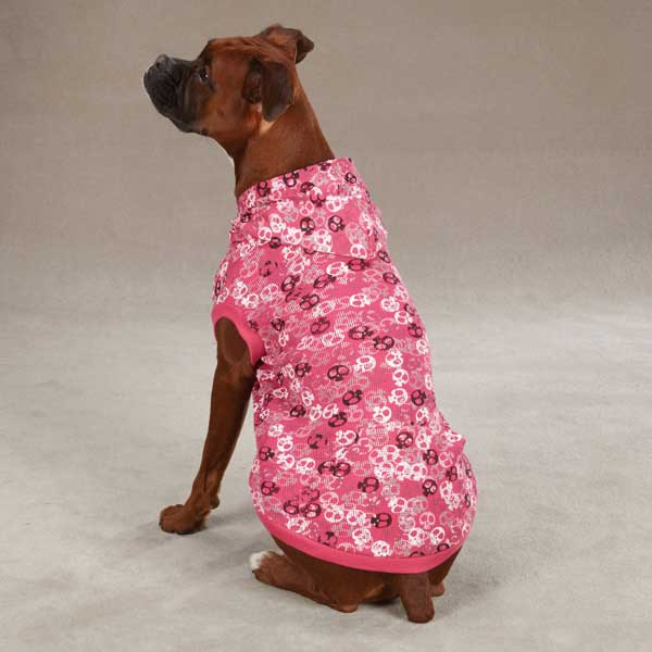 Bone Heads Dog Waffle Hoodie - Pink