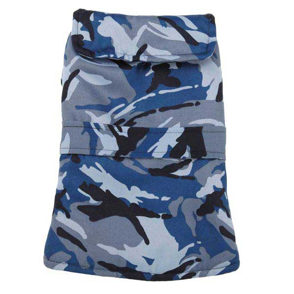 Casual Canine Camo Barn Dog Coat - Blue
