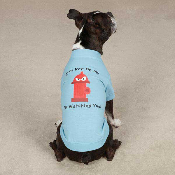 Casual Canine Hydrant Dog T-Shirt - Blue
