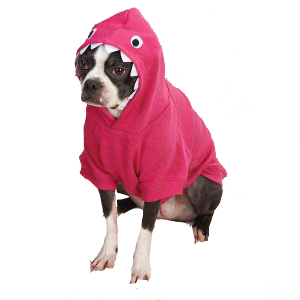 Casual Canine Lil' Monster Dog Hoodie - Raspberry