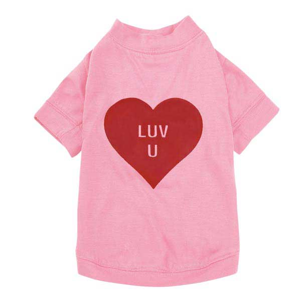 Casual Canine Love U Dog T-Shirt - Pink