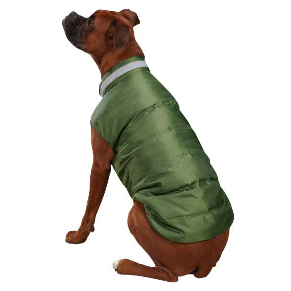 North Paw Puffy Dog Vest - Chive