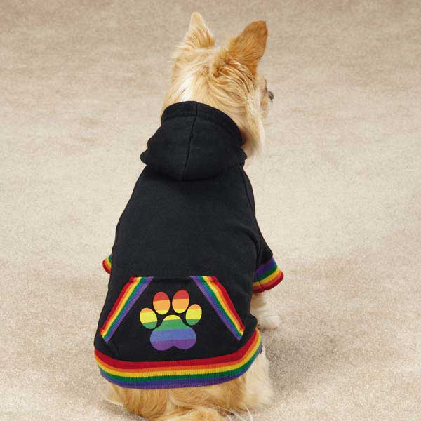 Puppy Pride Dog Hoodie - Black