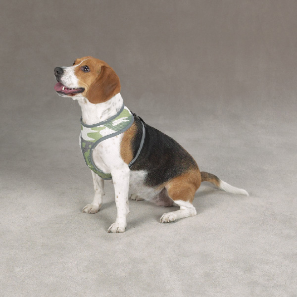 Casual Canine Reflective Mesh Harness - Camo