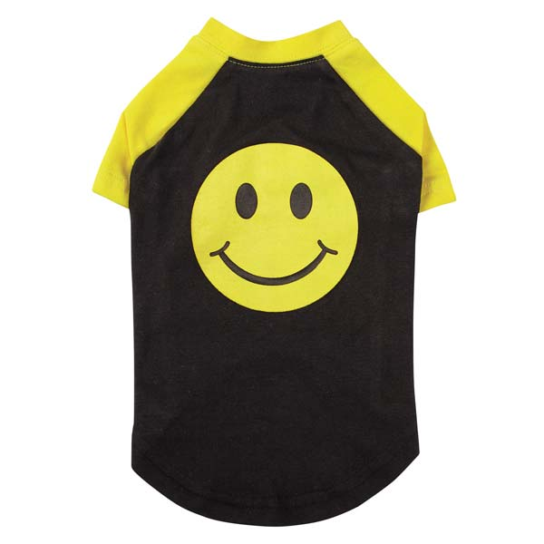 Casual Canine Smiley Face Raglan Dog T-Shirt