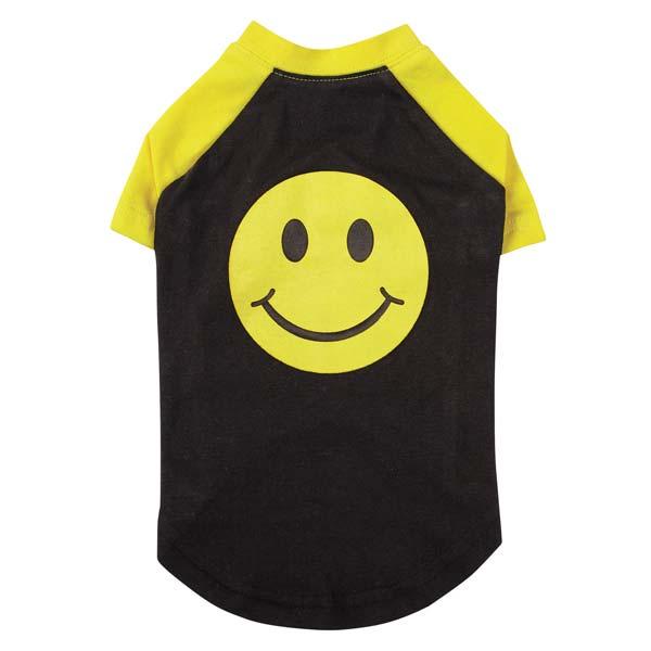 Casual Canine Smiley Face Raglan Dog T-Shirt