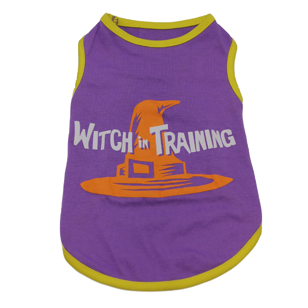 Casual Canine Witch in Training Dog T-Shirt - Purple