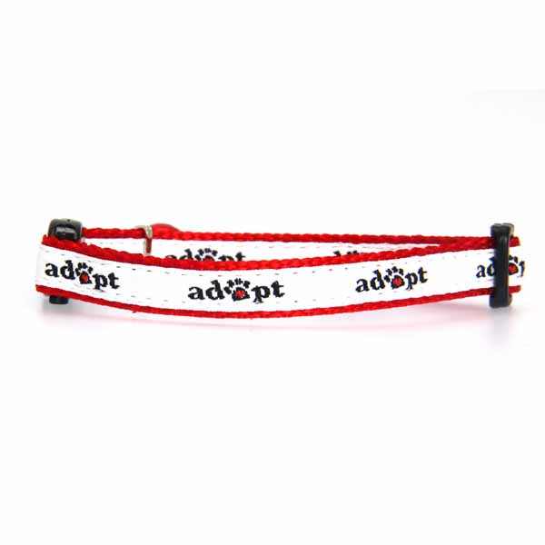 Casual Kitty Adopt Cat Collar - White and Red