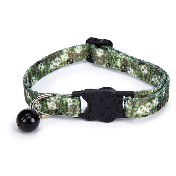 Casual Kitty Bone Heads Cat Collar - Green