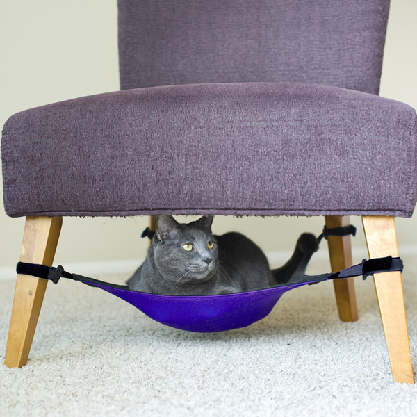 Cat Crib Cat Hammock - Purple