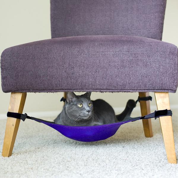 Cat Crib Cat Hammock - Purple