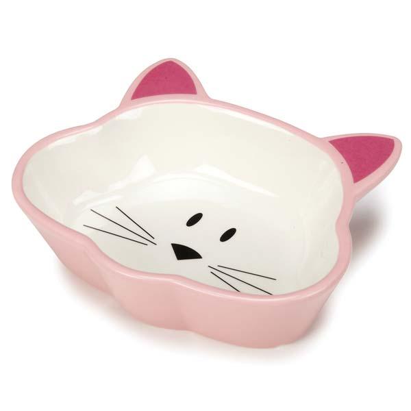 Cat is Good Ceramic Cat Dish - Pink