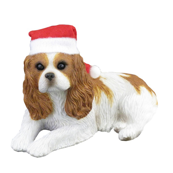 Cavalier King Charles Spaniel Christmas Ornament - Lying
