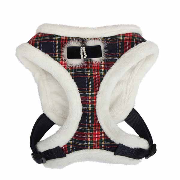 Checkered Snugfit Dog Harness by Pinkaholic - Navy