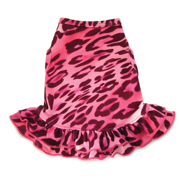 Cheetah Dog Dress - Pink