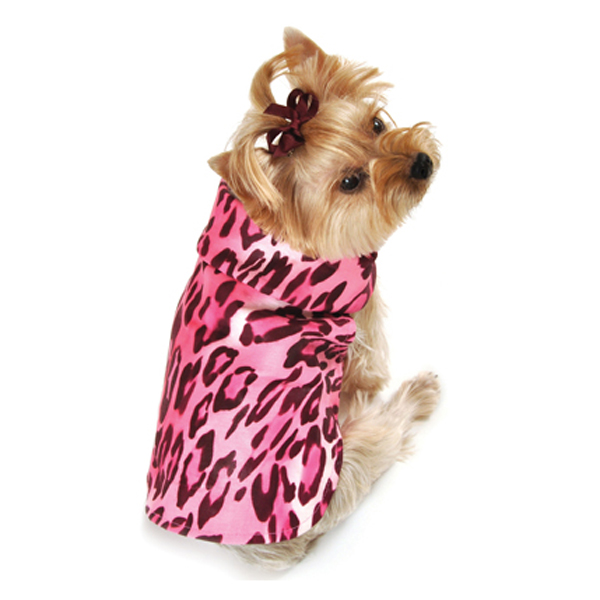 Cheetah Dog Raincoat - Pink