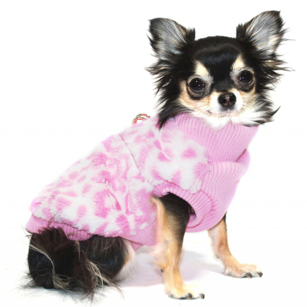 Cheetah Mink Vest by Hip Doggie - Pink