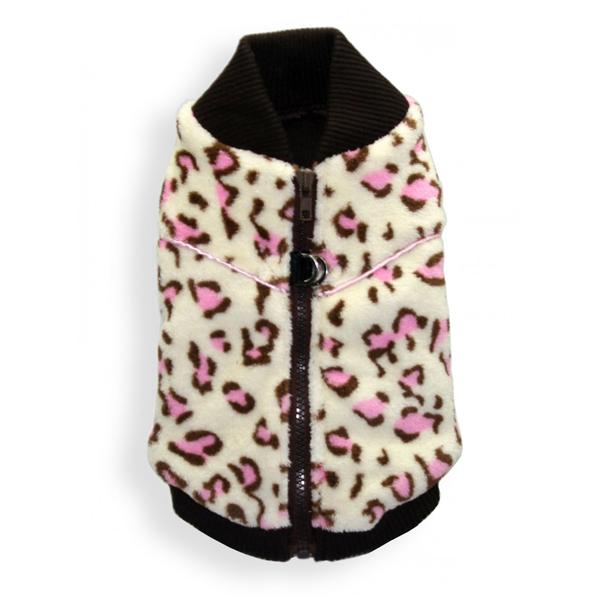 Cheetah Mink Vest by Hip Doggie - White