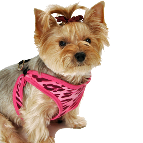 Cheetah Step-In Dog Harness - Pink