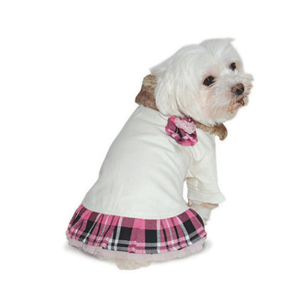 Chelsea Pink Plaid Dog Dress by Dogo