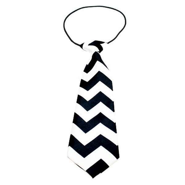Chevron Big Dog Neck Tie - Black