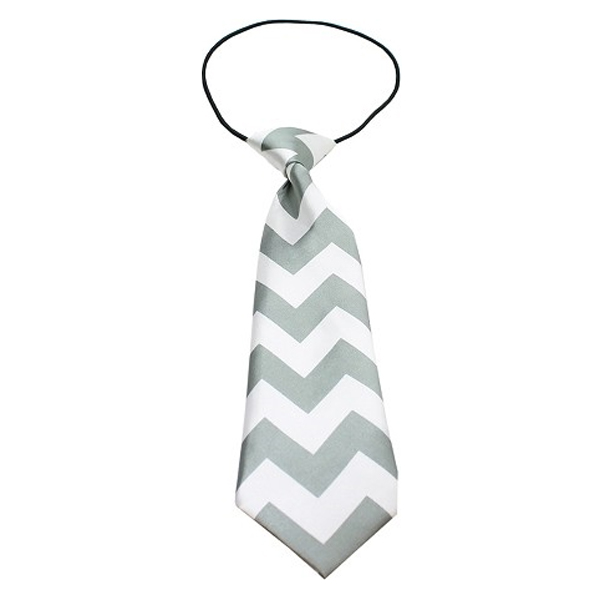 Chevron Big Dog Neck Ties - Gray at BaxterBoo