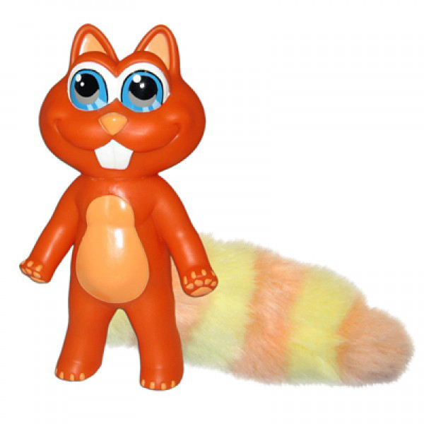 Chewbies Dog Toy - Orange Squirrel