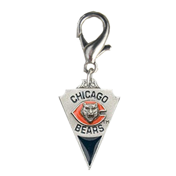 Chicago Bears Pennant Dog Collar Charm