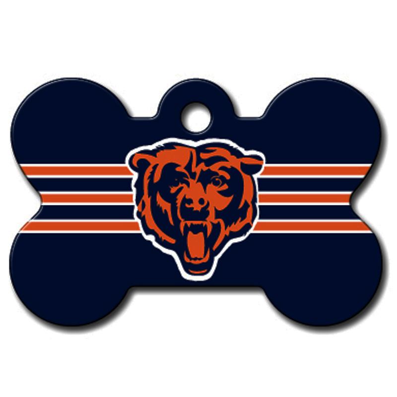 Chicago Bears Engravable Pet I.D. Tag - Bone