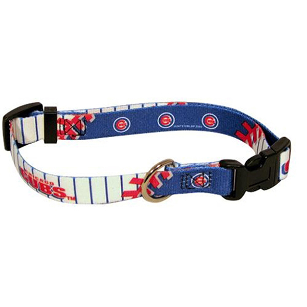 Chicago Cubs Baseball Printed Dog Collar
