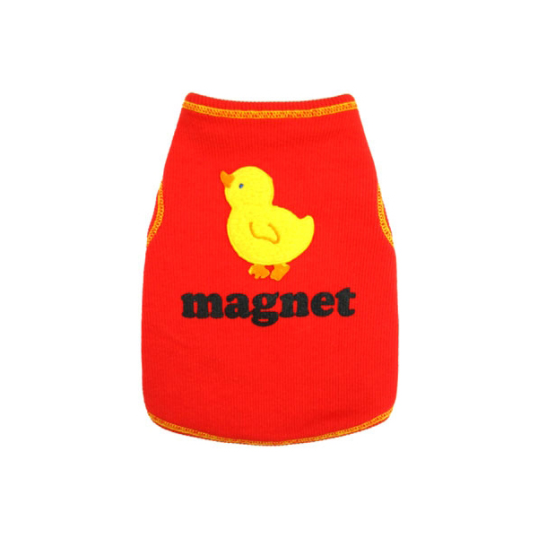 Chick Magnet Dog Tank Top - Red