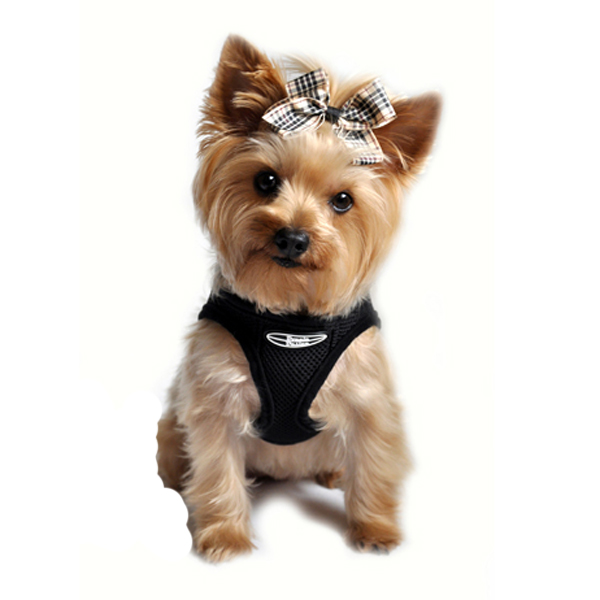 Choke-Free Mesh Step-In Dog Harness - Black