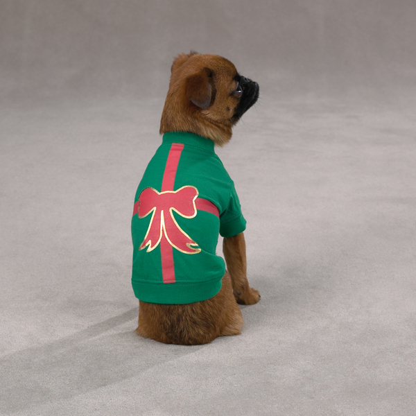 Christmas Present Dog T-Shirt - Green