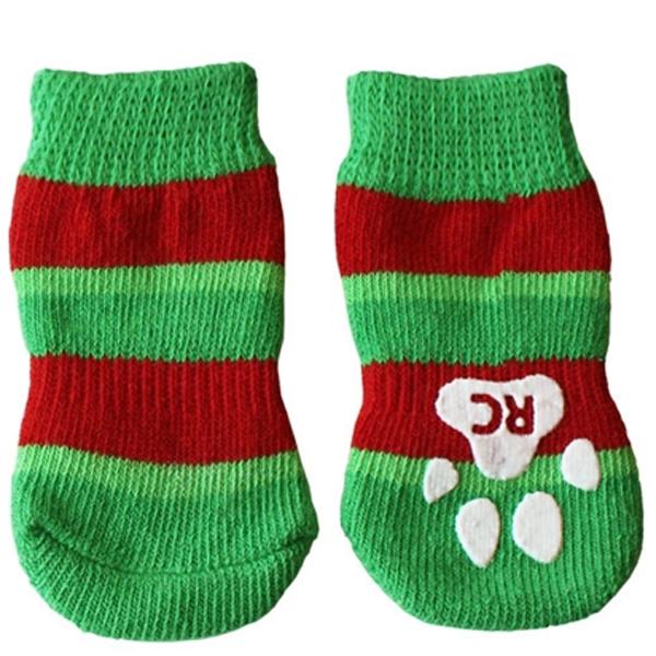 Christmas Stripe PAWKS Dog Socks