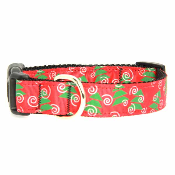Christmas Trees Nylon Dog Collar