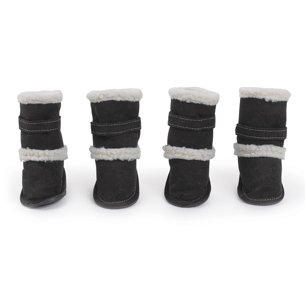 Classic Sherpa Dog Boots - Black