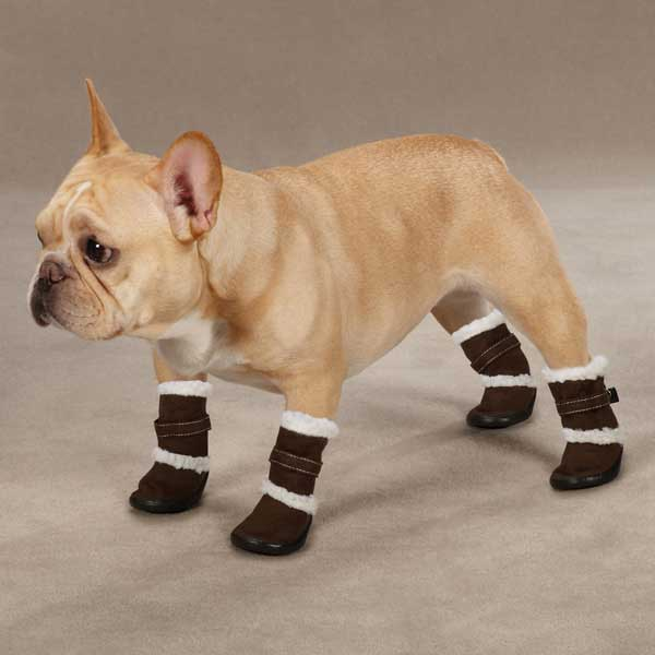 Classic Sherpa Dog Boots - Chocolate BaxterBoo