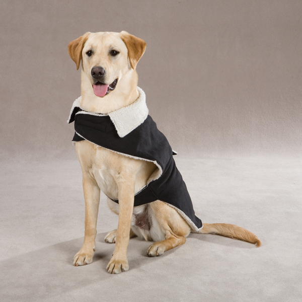 Classic Sherpa Dog Jacket - Black