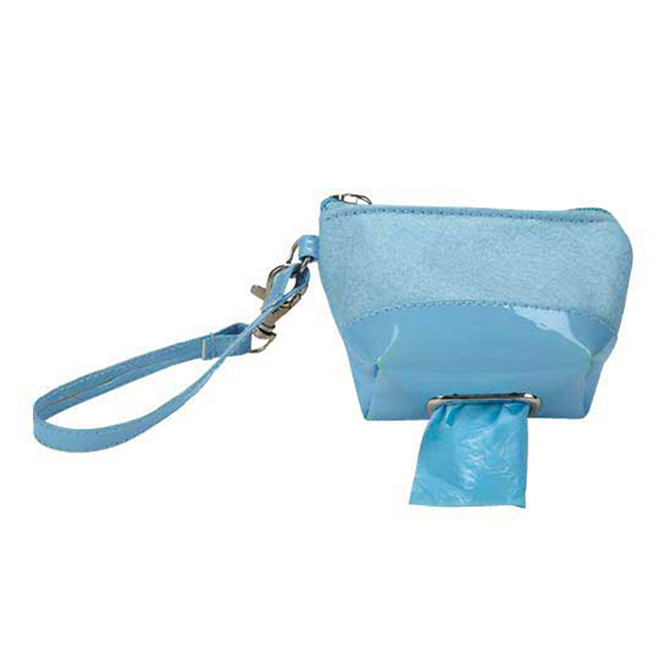 Clean Go Pet Waste Bag Wristlet - Powder Blue
