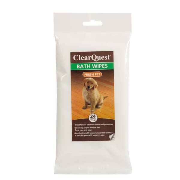 ClearQuest Pet Bath Wipes - Fresh Pet