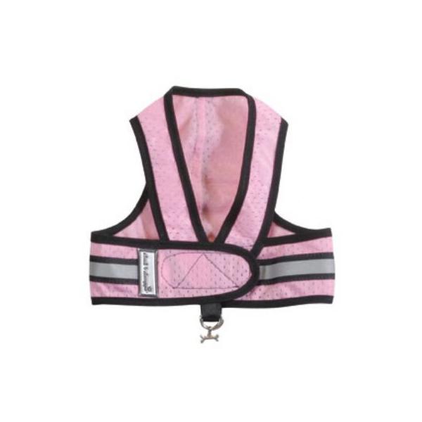 Cloak & Dawggie Reflective Mesh Step-N-Go Harness - Pink/Black